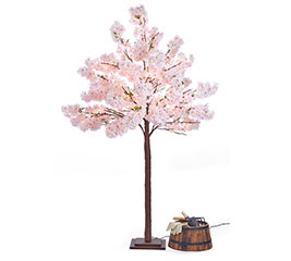 "82"" CHERRY BLOSSOM TREE WITH LIGHTS"