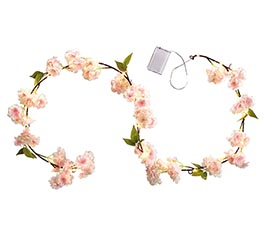 "60"" CHERRY BLOSSOM GARLAND WITH LIGHTS"