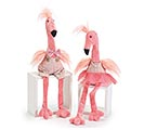 DECOR PINK FLAMINGO COUPLE DRESSED UP