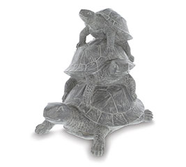 WHITEWASH GRAY STACKING TURTLES