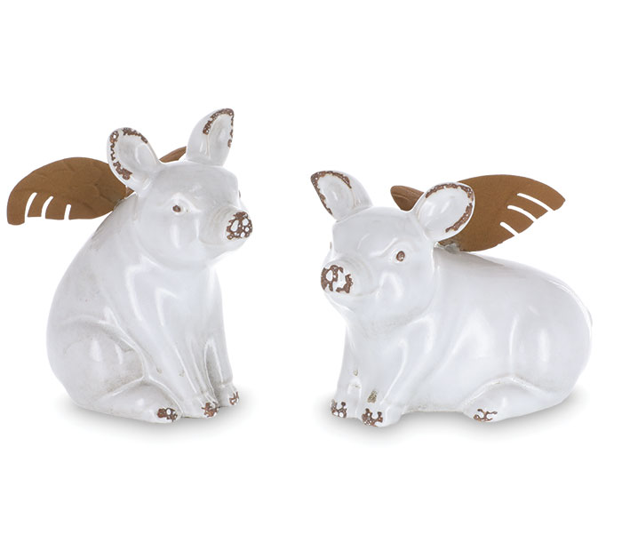 FLYING PIGS WITH METAL WINGS