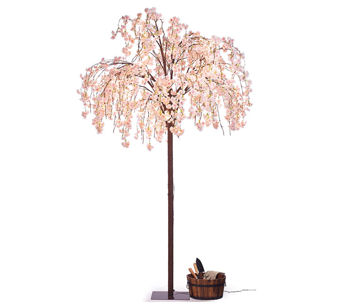 "98"" CHERRY BLOSSOM TREE WITH LIGHTS"