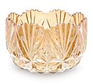 GOLD IRIDESCENT CUT CRYSTAL BOWL