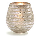 LARGE STRIPED TEXTURED GLASS VASE 1st Alternate Image