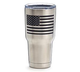 AMERICAN FLAG STAINLESS STEEL TUMBLER