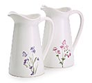 ASSORTED FLORAL DECAL PITCHER