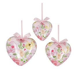 HEART SHAPE ORNAMENTS WATERCOLOR ROSES