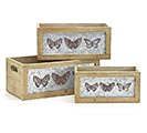 BUTTERFLY NESTED PLANTER SET