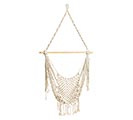 HANGING MACRAME CHAIR WITH BAMBOO POLE