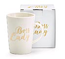 16 OZ PORCELAIN BOSS LADY MESSAGE MUG