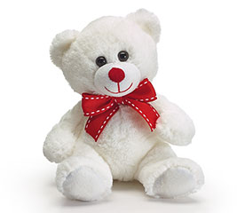 "7"" WHITE VALENTINE BEAR CASE PACK"