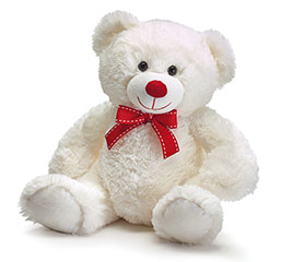 "12"" WHITE VALENTINE BEAR CASE PACK"