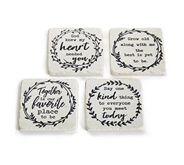 COASTERS ASTD MESSAGE WITH WREATHS