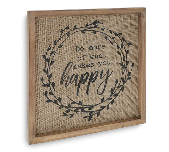 WHAT MAKES YOU HAPPY WALL HANGING