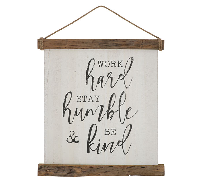 WORK HARD STAY HUMBLE WALL HANGING