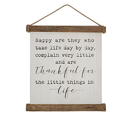 THANKFUL FOR LITTLE THINGS WALL HANGING