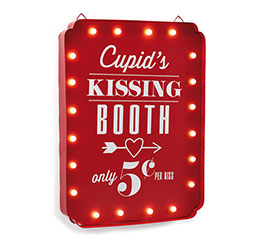 CUPID'S KISSING BOOTH WITH LIGHTS