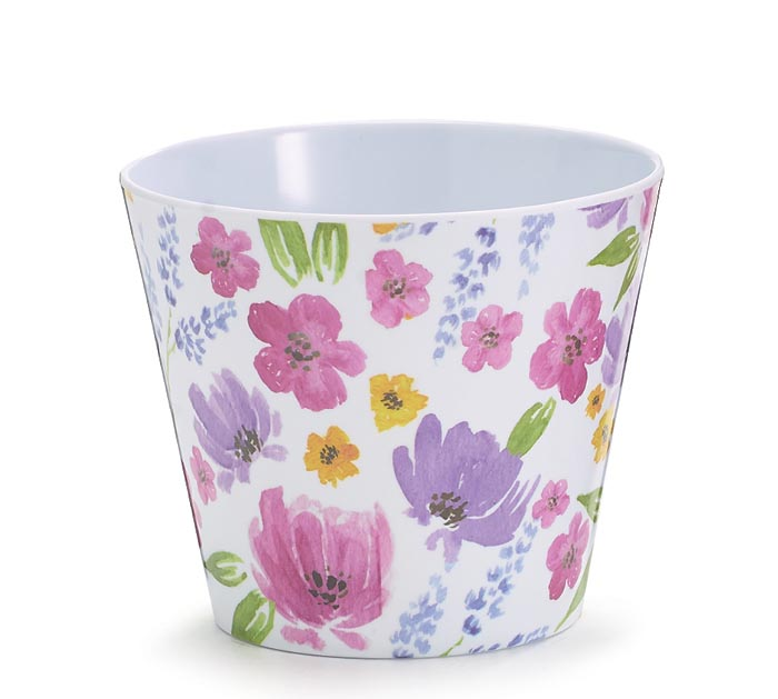 "4"" PINK PURPLE  YELLOW FLORAL MELAMINE"