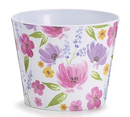 "6"" PINK PURPLE  YELLOW FLORAL MELAMINE"