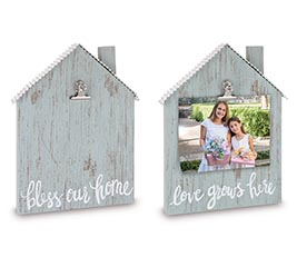 HOUSE SHAPE FRAME WITH CLIP  MESSAGES