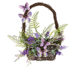 HANGING BASKET LAVENDER AND LILAC BLOOMS