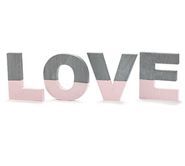 L O V E LETTERS GRAY DIPPED IN PINK