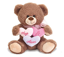 "11"" VALENTINE HUGS AND KISSES BEAR"