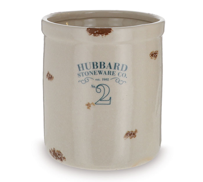 UTENSIL HOLDER WITH HUBBARD STAMP
