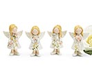 SMALL RESIN WHITE ANGELS ASTD FIGURINES