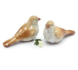 TAN CERAMIC BIRD FIGURINE