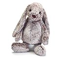 PLUSH GRAY FLOPPY EAR BUNNY