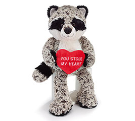 "18"" VALENTINE RACCOON PLUSH"
