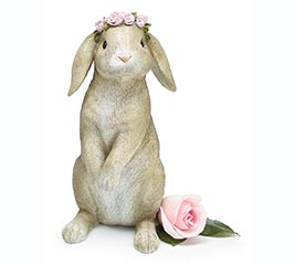 LIGHT BROWN BUNNY WITH FLOWER CROWN