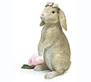LIGHT BROWN BUNNY WITH FLOWER CROWN 1st Alternate Image