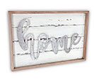 "WHITE WOODEN ""HOME"" WALL HANGING"