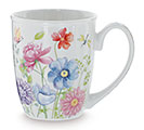 MUG MIXED BLOOMS WITH GREENERY