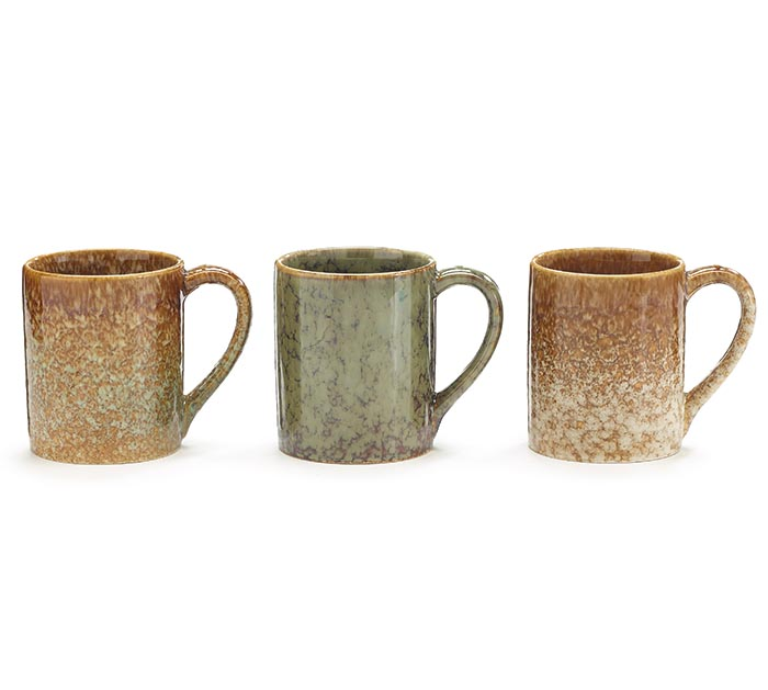 3 ASSORTED MARBLE COLOR MUGS