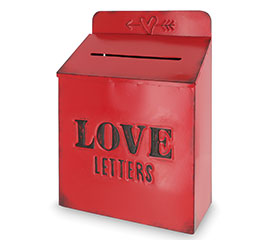 LOVE LETTERS MAILBOX WITH DISTRESSING