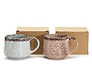 MARBLE CRACKLED ASSORTMENT SOUP MUGS 1st Alternate Image