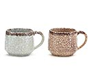 MARBLE CRACKLED ASSORTMENT SOUP MUGS