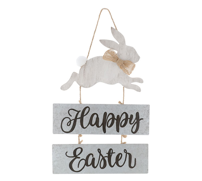 HAPPY EASTER WALL HANGING WITH BUNNY