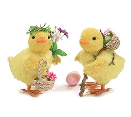 "8 1/2""CHICK COUPLE WITH BASKETS"