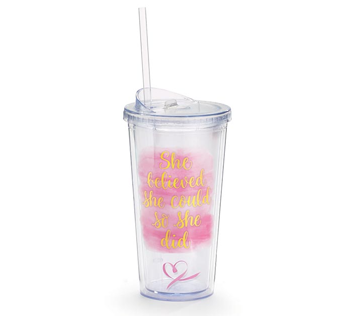 SHE BELIEVED SHE COULD TRAVEL CUP