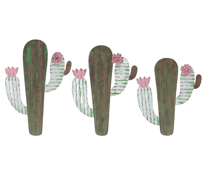 VARIED SET OF CACTUS WALL HANGINGS