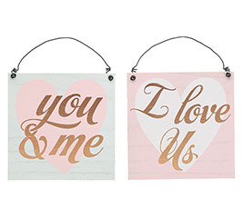 I LOVE US AND YOU  ME WALL HANGING ASTD