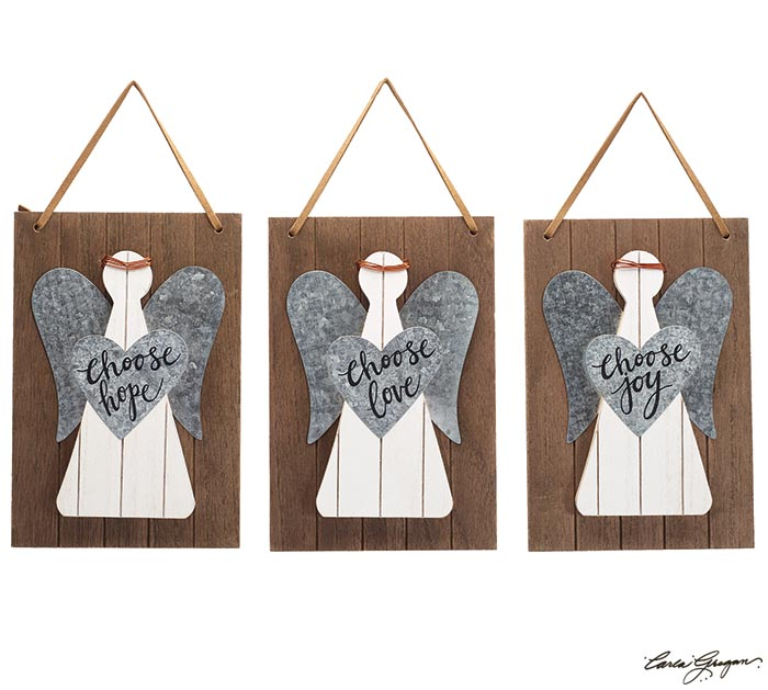 Rustic Angel Wall Hanging With Messages