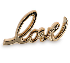 LOVE IN GOLD SCRIPT DECOR
