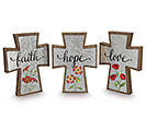 FAITH HOPE  LOVE CROSS ASSORTMENT