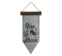 RISE AND SHINE ROOSTER WALL HANGING