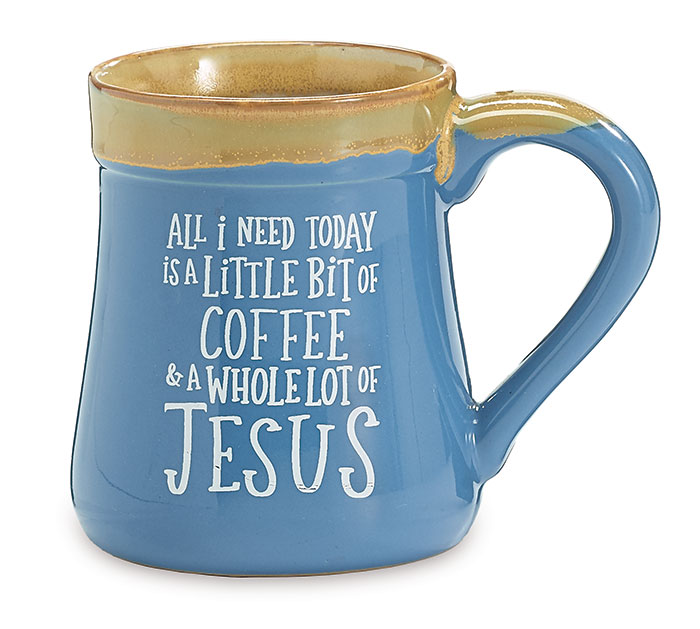 A LITTLE COFFEE  A LOT OF JESUS MUG